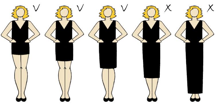 fason sukienki ukrywający brzuszek i wyszczuplający sylwetkę