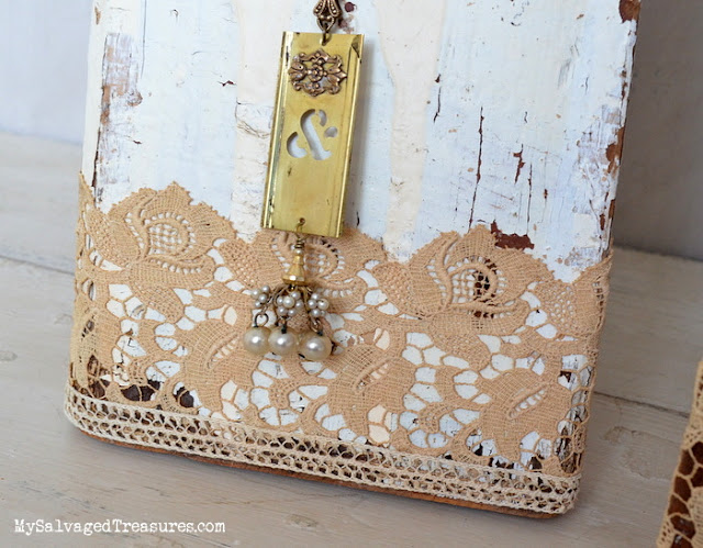 repurposed architectural salvage necklace display upcycle