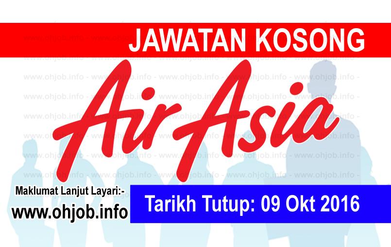 Jawatan Kerja Kosong AirAsia Berhad logo www.ohjob.info oktober 2016