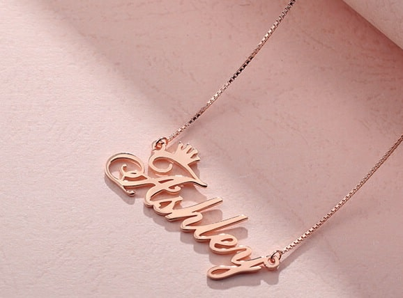 with the transformation of the mainstream consumer groups Modern Get Name Necklace