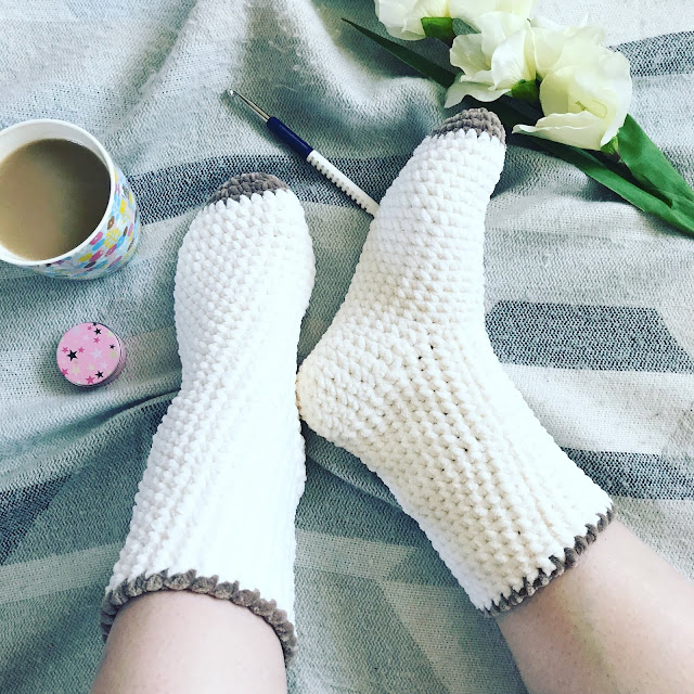 Bed Socks Free Pattern