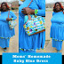 Moms' Homemade Baby Blue Dress