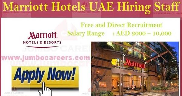 5 Star Marriott Group Hotels Uae Latest Jobs And Careers