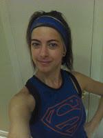 Coureuse bénévole camisole Superman