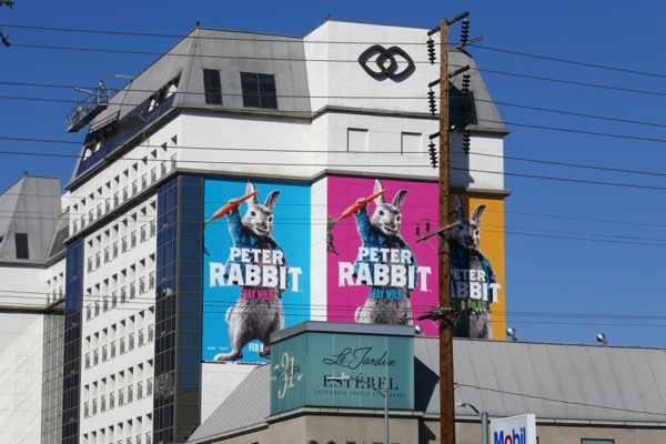 Giant Peter Rabbit movie billboard