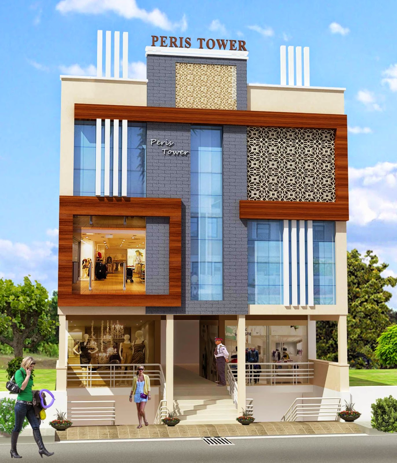 Raajnaresh R.M.Realestates: Peris Tower A Shopping Mall In