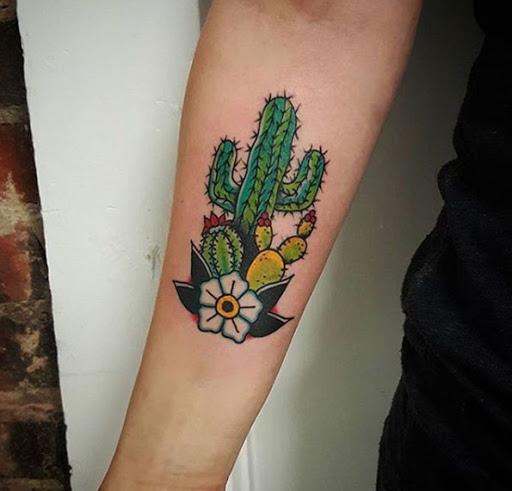 Este prickly pear cactus tatuagem