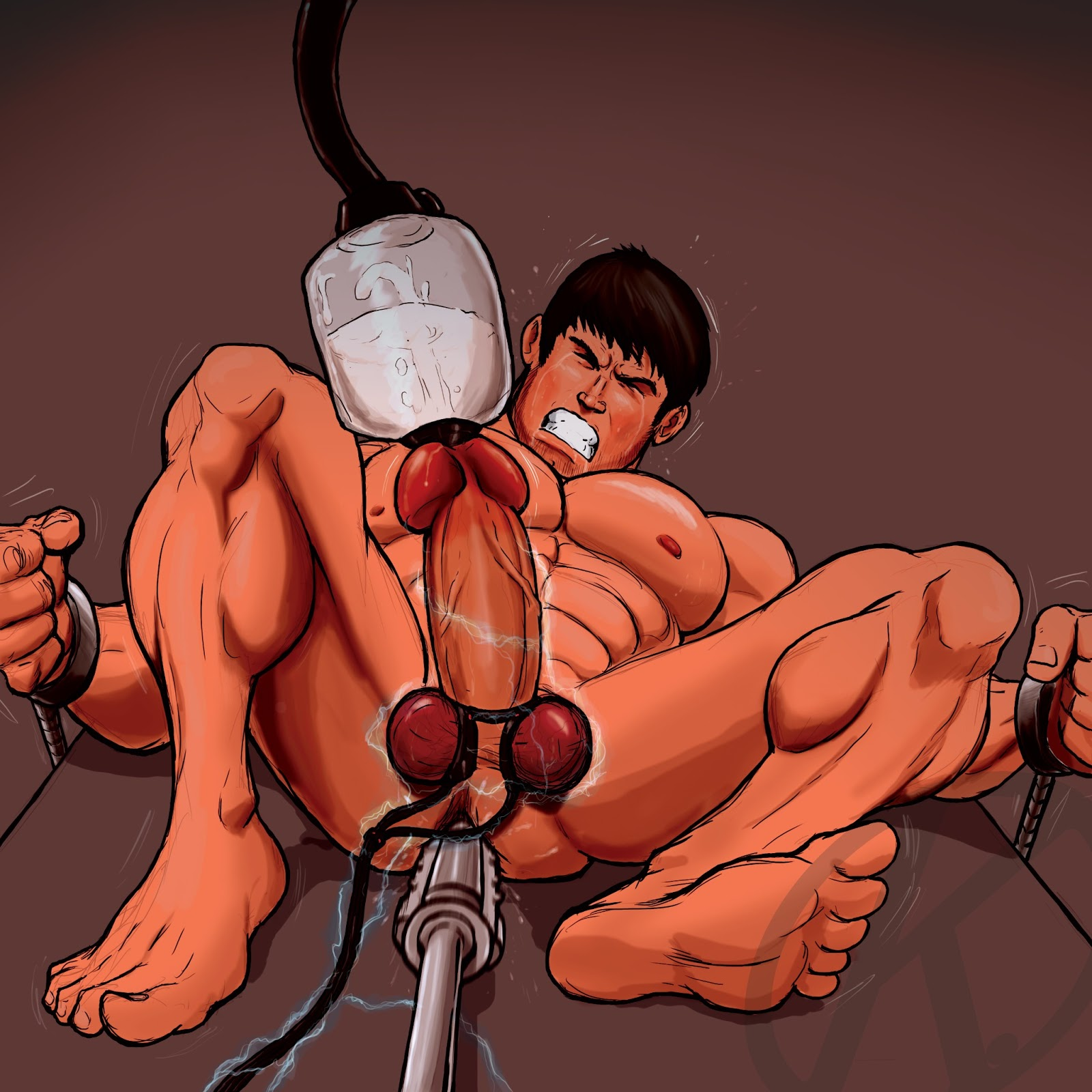 fetish bdsm male milking