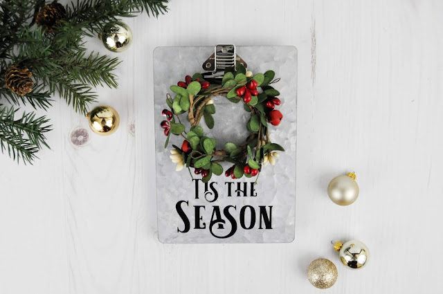 Jillibean Soup: Galvanized Christmas Clipboard