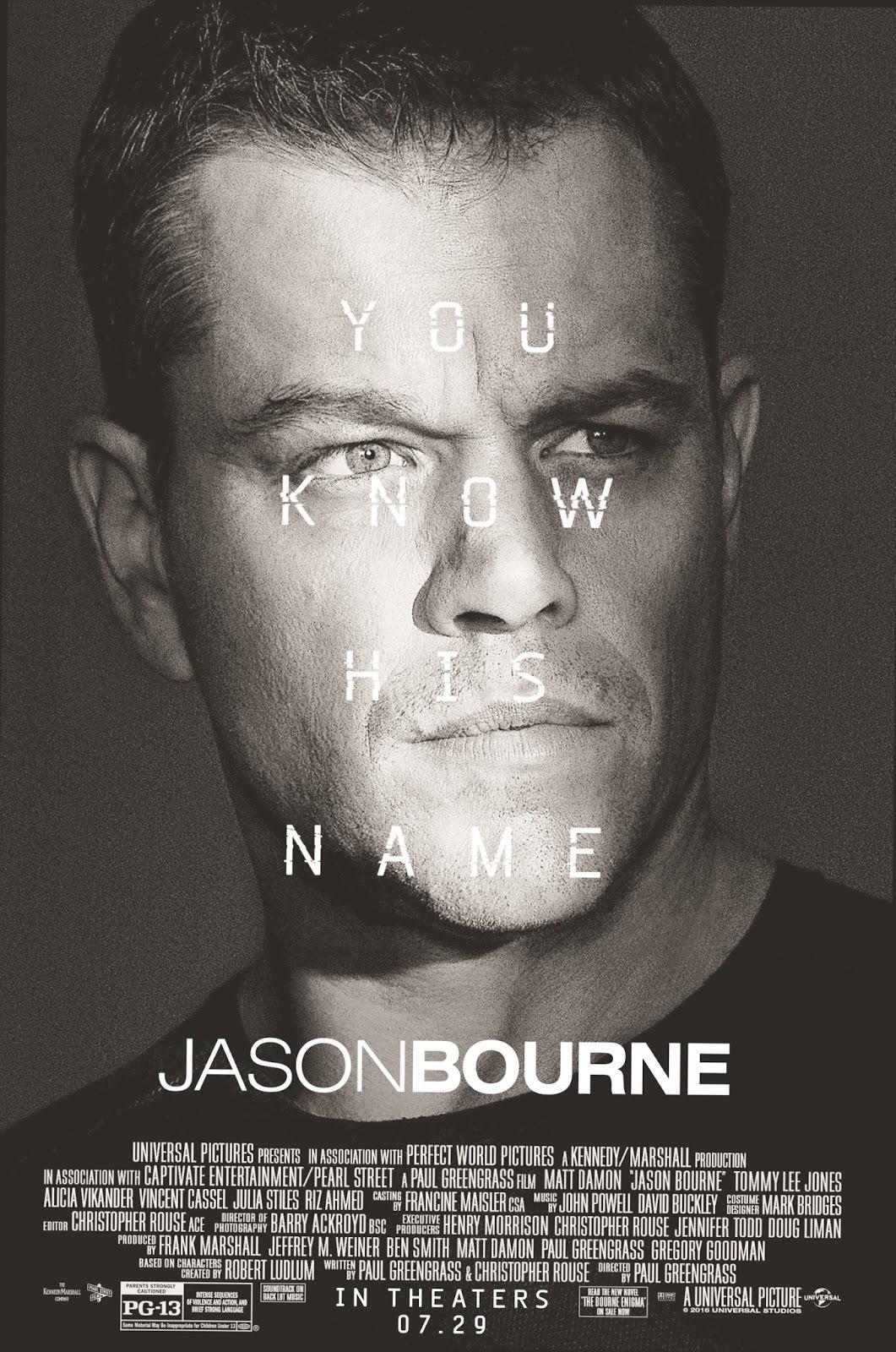 Dawson S Reviews Jason Bourne 2016 Movie Review