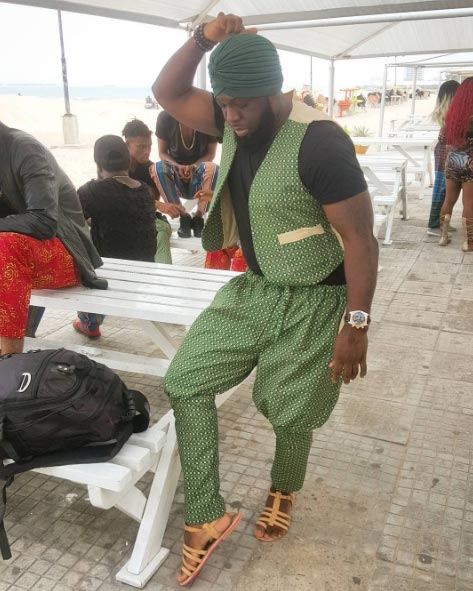 Timaya rocks Indian outfit as he records music video in India