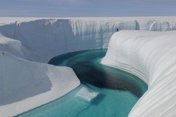 Ice canyons, Greenland
