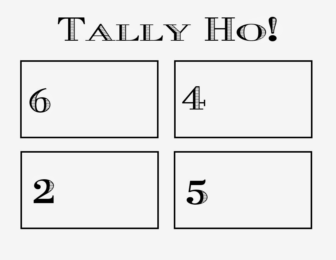 Kindergarten And Mooneyisms Tally Ho Math Game And Freebie