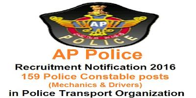AP PCs Mechanics & Drivers Recruitment 2016