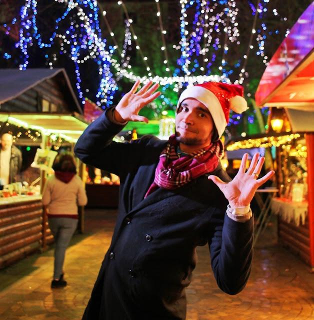 Feira de Natal em Carcassonne, na Place Carnot.