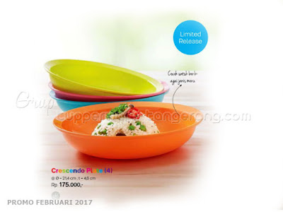 Crescendo Plate 4 Tupperware Promo Februari 2017