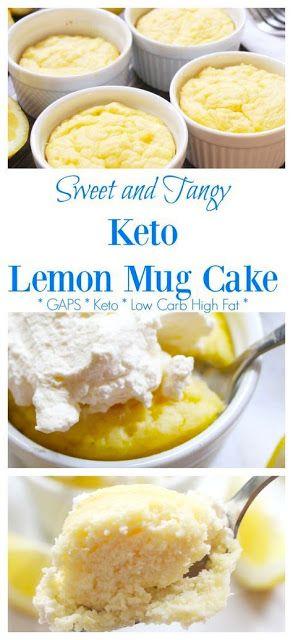Keto Lemon Mug Cake #HEALTHY #KETO #DESSERT #LOWCARB