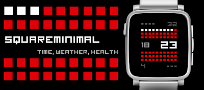 Squareminimal watchface - Pebble Time / Time Steel / Pebble 2