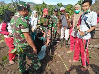 Kodim 1608/ Bima Prakarsai Penanaman 13.000 Pohon di Madapangga