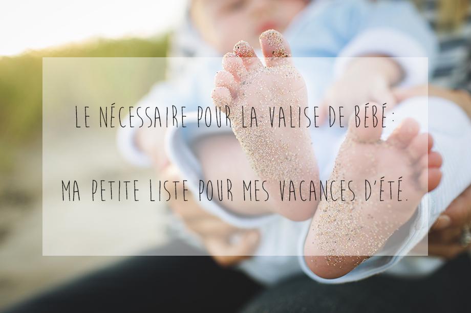 liste valise bébé