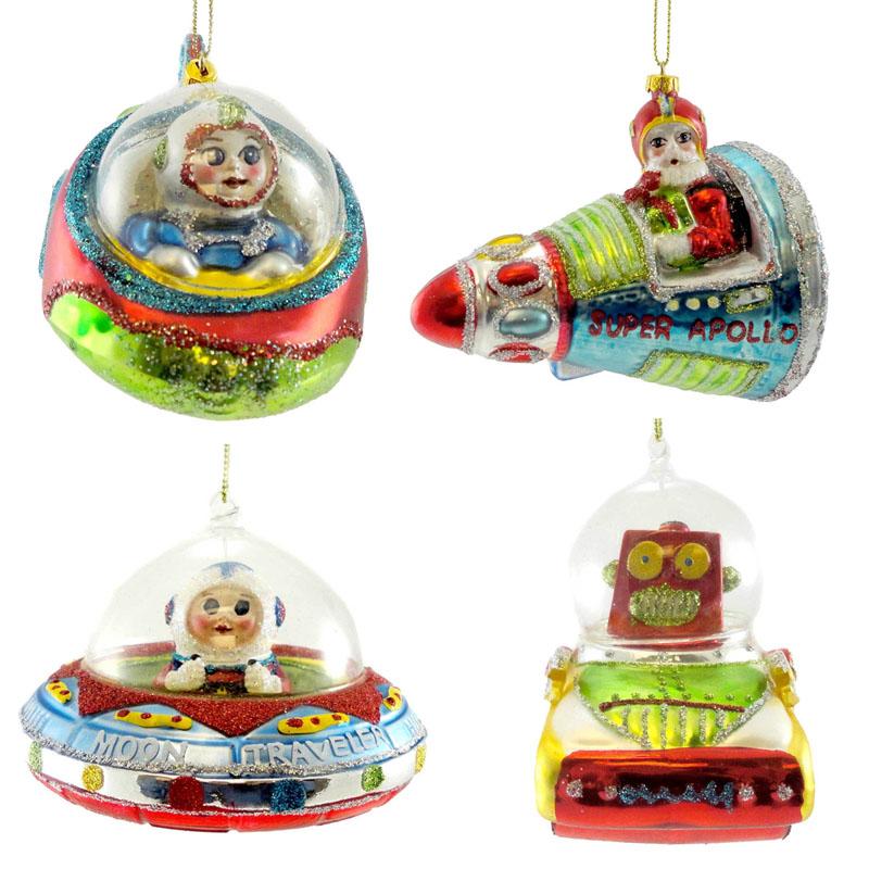 Retro Modern Space Theme Ornaments