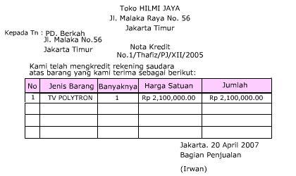 Contoh Jurnal Nota Debet Contoh 0108