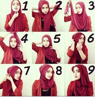 Gaya Hijab Pashmina Terkini