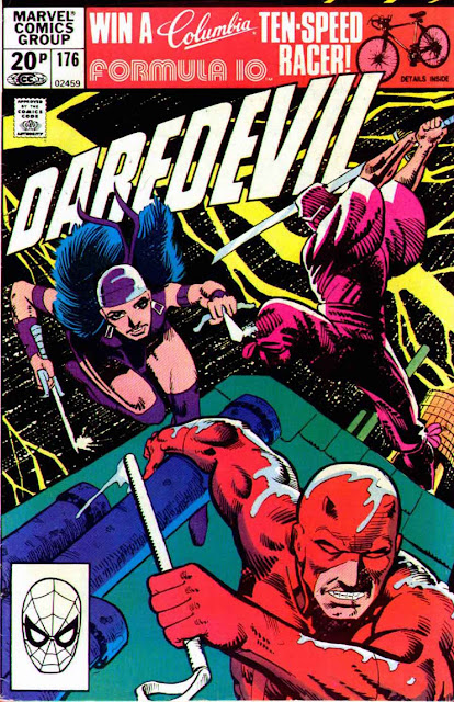 Daredevil v1 #176 elektra marvel comic book cover art by Frank Miller