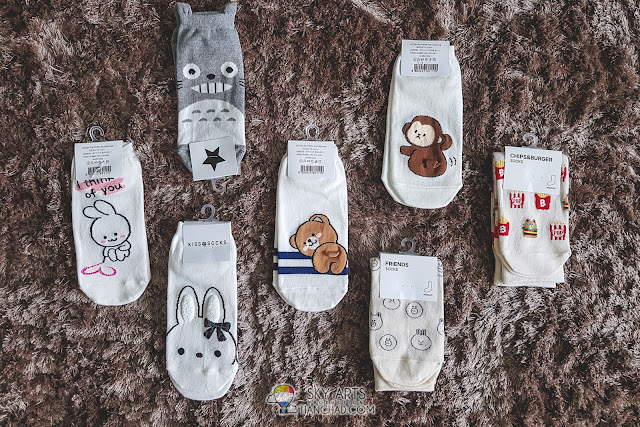 Things to buy in Korea - Cute Cartoon Character Socks