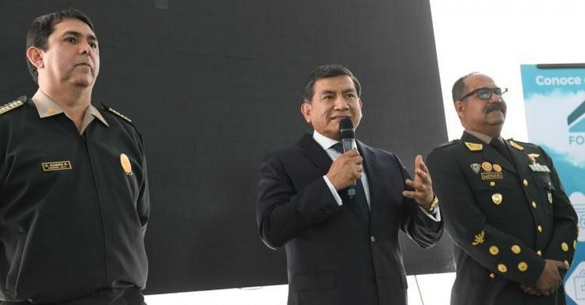 PNP: Alumnos de escuelas policiales podrán acceder a créditos para vivienda propia, anunció el ministro del Interior, Carlos Morán