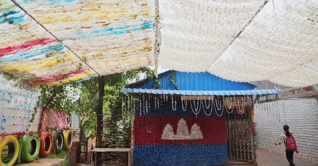 Coconut School, l'école construite avec des déchets en plastique