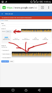 how to create Adsense link ads Unit for your blog