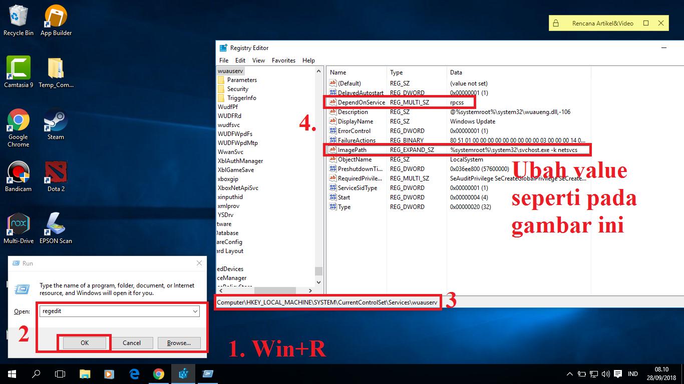 cara mematikan svchost.exe (netsvcs) windows 10