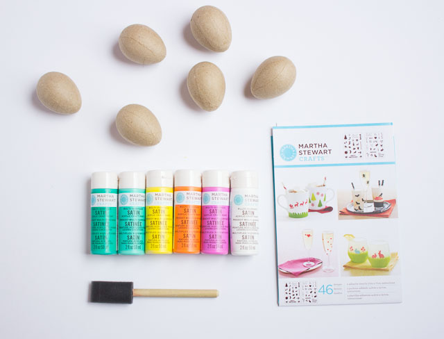 Stenciled Easter Eggs - use Martha Stewart adhesive stencils to create these super sweet Easter eggs!