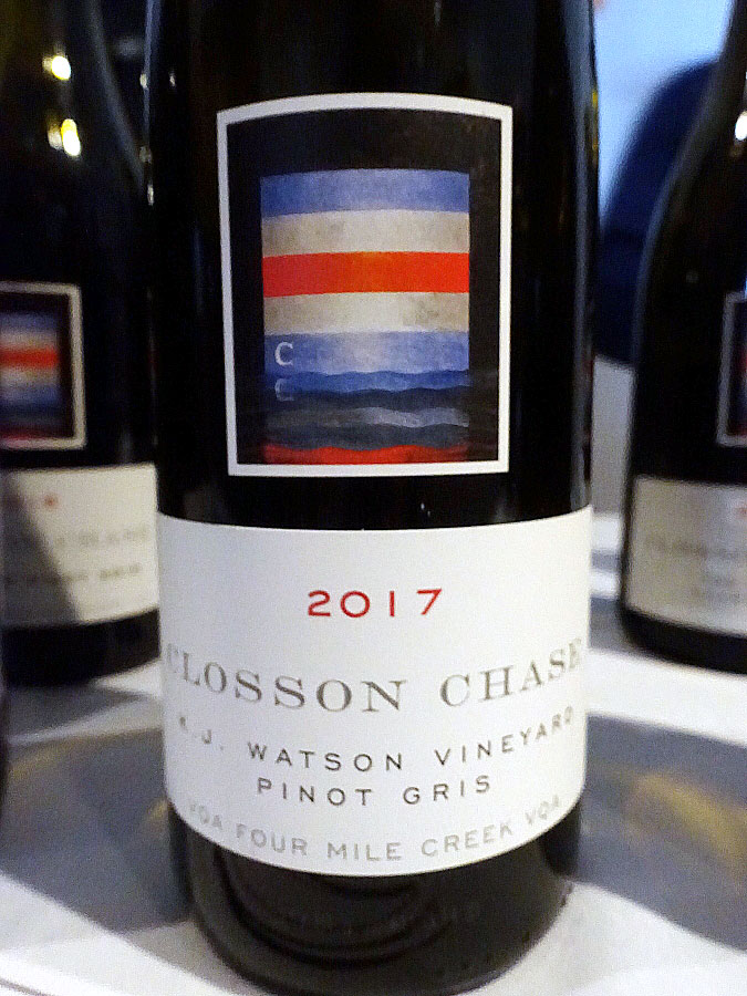 Closson Chase K.J. Watson Vineyard Pinot Gris 2017 (89 pts)