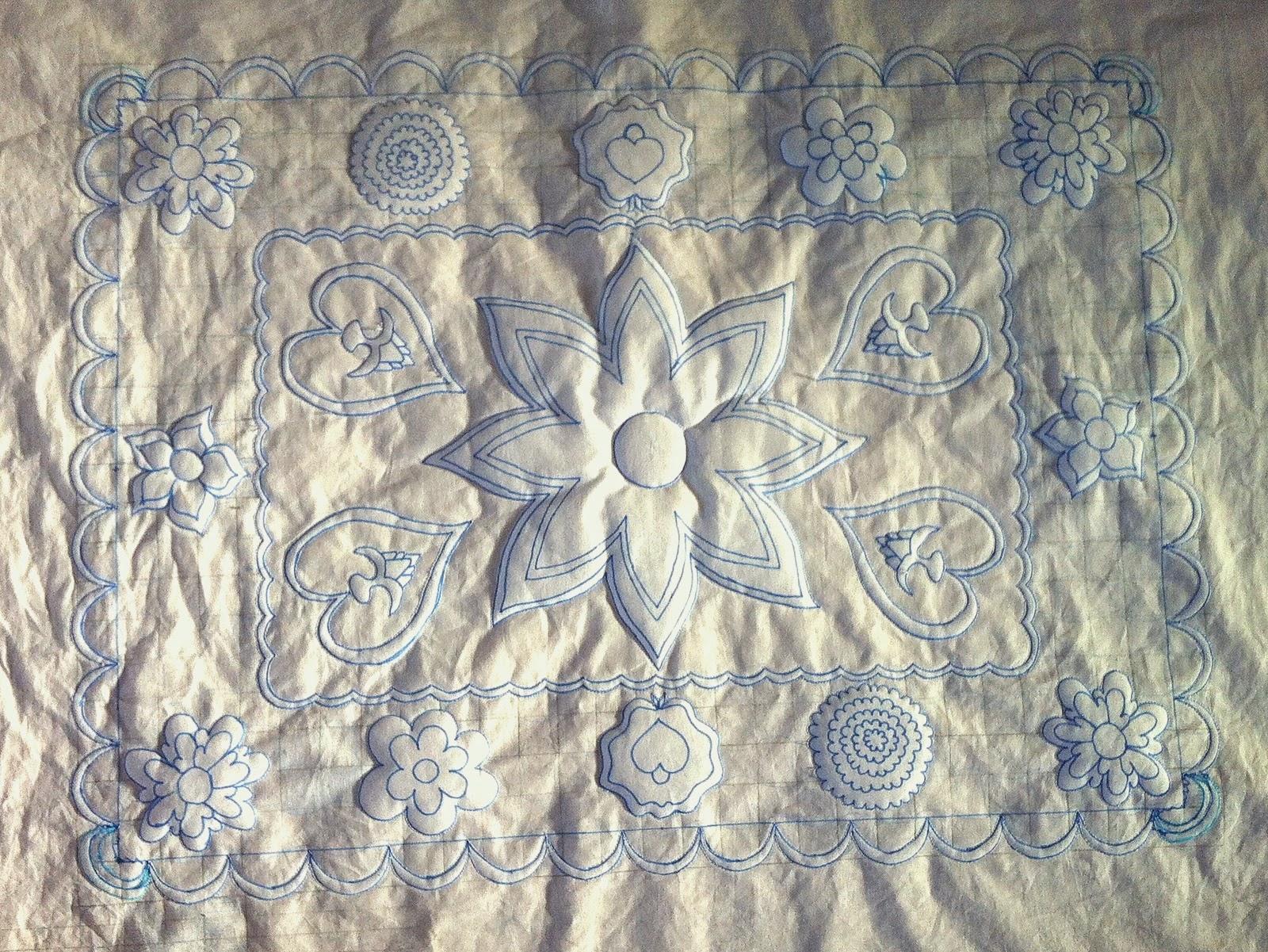 Ontwerp op stof voor wholecloth quilt