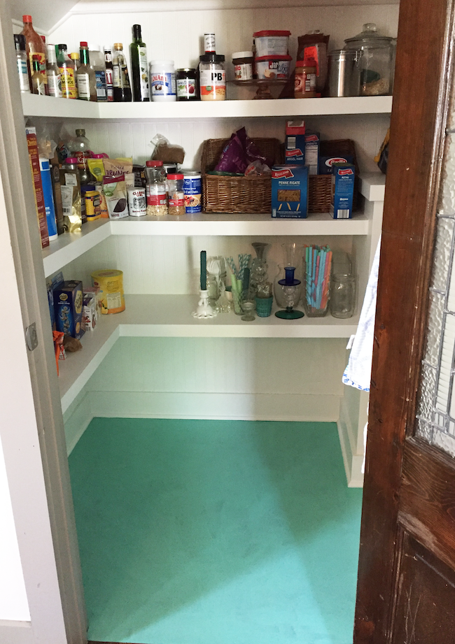 Sherwin Williams Larchmere on pantry floor