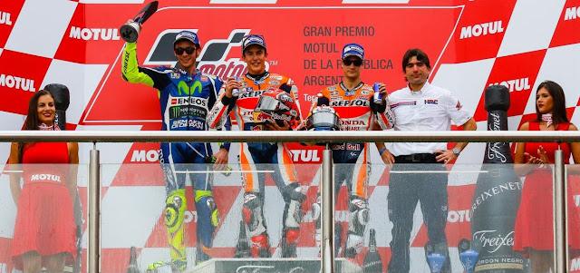 Hasil MotoGP Argentina 2016 Valentino Rossi hampir gagal naik podium