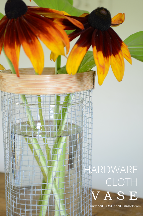 Check out this great DIY vase using a supply that can be purchased at any hardware store | www.andersonandgrant.com