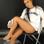Andrea Rincon, Selena Spice Galeria 19: Buso Blanco y Jean Negro, Estilo Rapero Foto 110