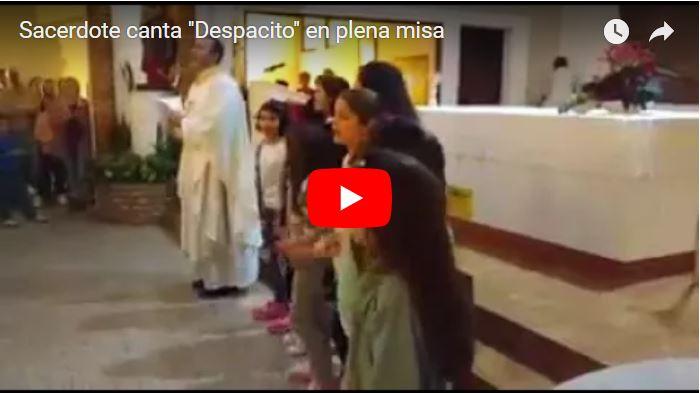 """El sacerdote paró la misa  para cantar """"Despacito"""""""