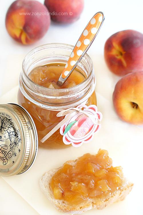 Marmellata confettura di pesche con poco zucchero fatta in casa come prepararla ricetta - Peache jam homemade recipe