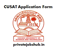 CUSAT Application Form