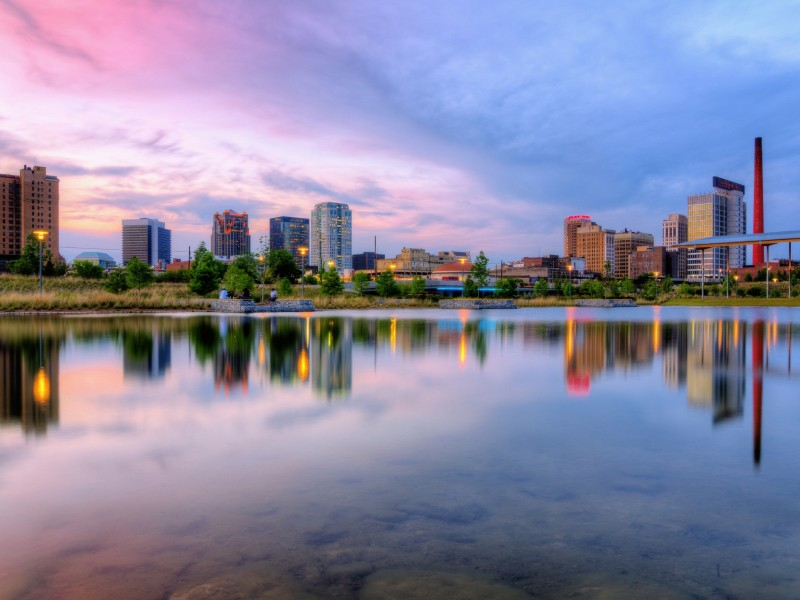 Download Sky Line Building Reflecting on Calm Lake Water HD wallpaper. Click Visit page Button for More Images.