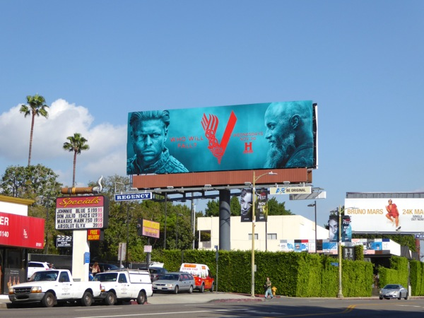 Vikings season 4 Part 2 billboard Sunset Plaza