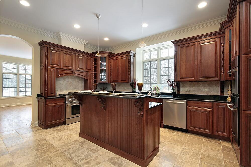 Kitchen Color Schemes With Wood Cabinets Home Interior Exterior Decor Design Ideas