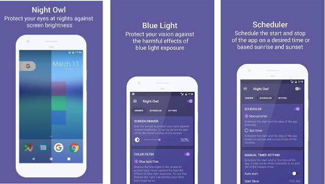 تطبيق Night Owl لإراحة عينيك أثناء تصفّح هاتفك ليلًا و حمايتها من اشعة الهاتف الضارة