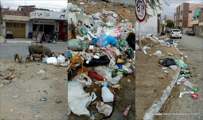 Moradores reclamam de muito lixo na rua no Bairro São Cristóvão