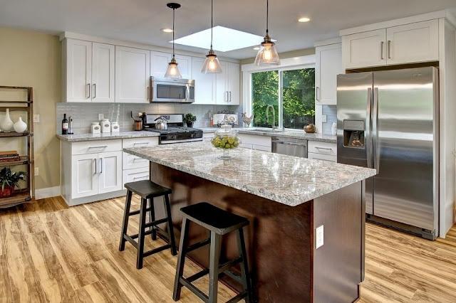 Meskipun desain interior dapur ini tidak berarti  tidak Dapur Elegan Interior Mewah