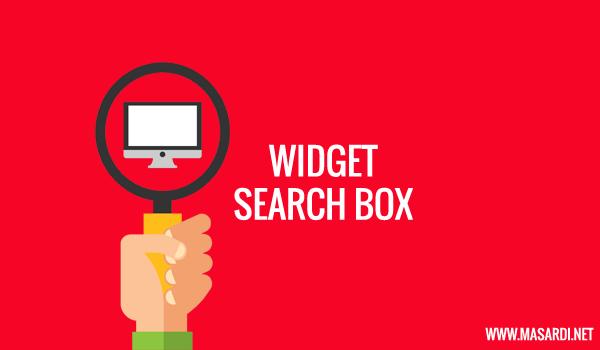 Widget pencarian artikel atau search box merupakan elemen penting di sebuah blog